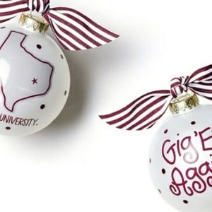 New Coton Colors Aggie Ornament